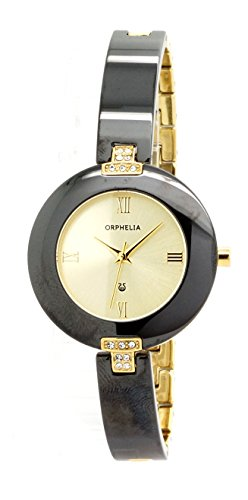 Damen-reloj analógico de cuarzo ORPHELIA cerámica 153-3702-24