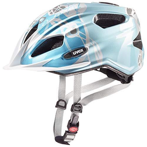 Uvex Mädchen Quatro junior Fahrradhelm, Blau, 50-55