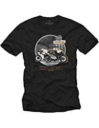 T-Shirt Moto Homme - Cafe Racer Tee Shirt Biker - Isle of Man TT