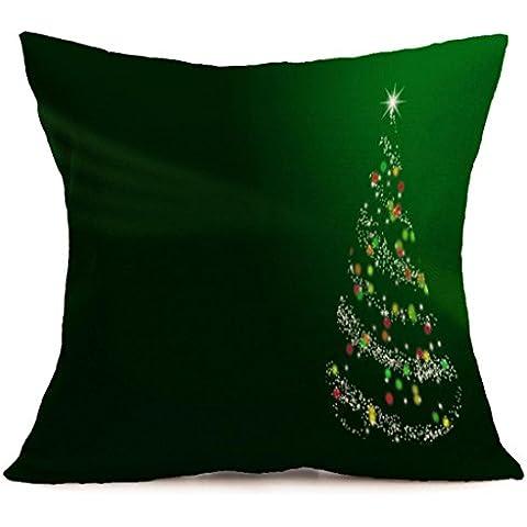 Tongshi Funda de almohada Amortiguador de la cubierta de la historieta de la decoración de Navidad Festival de la funda de almohada