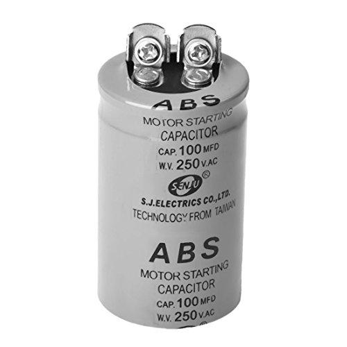 SODIAL(R) ABS 100MFD 100uF 250V AC Motor Anlaufkondensator -