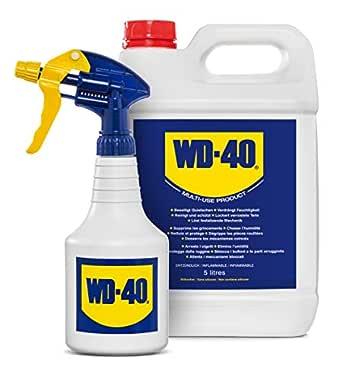 WD-40 Prodotto Multifunzione - Lubrificante Tanica da 5 lt + Dosatore Spray incluso