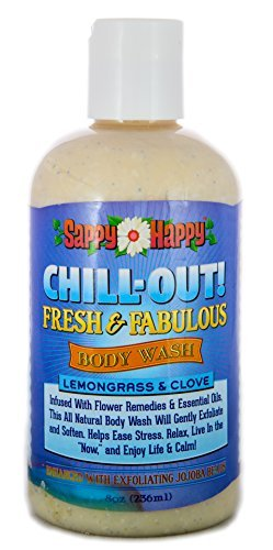 Chill Out! Organic Body Wash- Feel Your Stress and Overwhelming Life Drift Away with this Unique Formula of Natural Flower Remedies and Essential Oils- Lemongrass & Clove (8 oz.) by Strongest Minds (Wash Body Lemongrass)