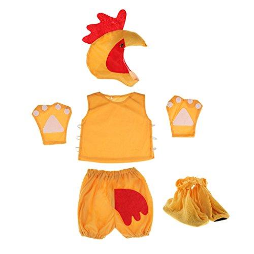 IPOTCH Kinder Baby Tier Kostüme Tieroutfit Cosplay Fotografie Foto Prop Tierkostüm Fasching - - Baby Hahn Kostüm