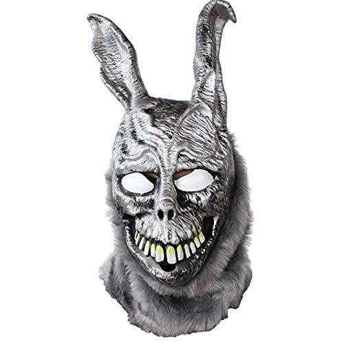 hcoser Donnie Darko Frank Maske böses Kaninchen Helm Cosplay Kostüm Latex Halloween Party Requisite für Erwachsene (Böse Kaninchen Kostüm)