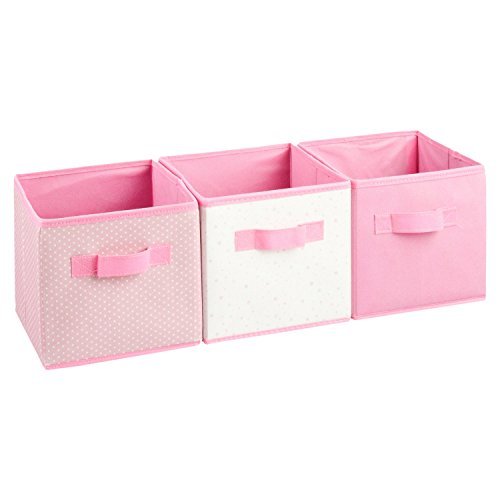 Set aus 3 Aufbewahrungskörben - Farbe ROSA