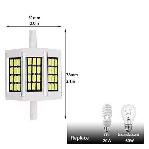 Keine dimmbare 10W R7S LED Lampe 78mm 220V Max 230w 240vSMD5730 LED Lampe Licht r7s J78 Röhre Ersetzen Halogen Flutlicht Weiß (10W 78MM / AC180-240V / keine dimmbar) -