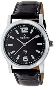 Ego by Maxima Analog Black Dial Men's Watch - E-20881L-INST