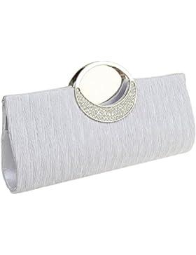 thboxes Frauen Satin Plissee Abend Handtasche Hochzeit Party Kupplung Geldbörse Tasche