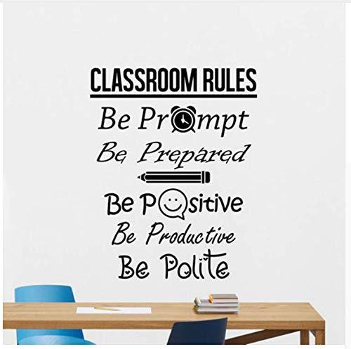 immer Regeln Wandtattoo Zeichen Positiv Poster Bildung Schule Zitat Lehrer Idee Vinyl Aufkleber Dekor Wandkunst 42 * 53 Cm ()