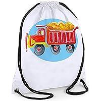 Boys Swim Bag, Boys Gym Bag, White PE Bag, Truck Bag,Boys Swimming Bag