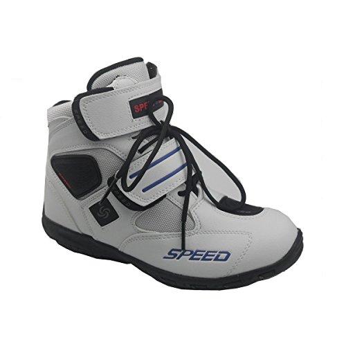 Madbike - Stivali da sport outdoor per motociclismo, da uomo, colore: nero nero - bianco