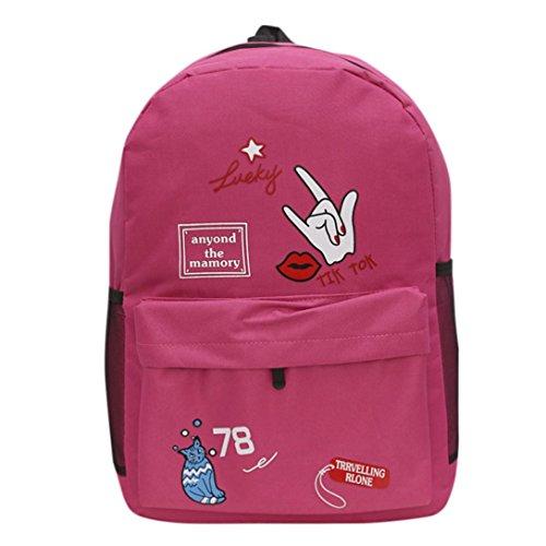Tasche, feiXIANG Schulter Bookbags Schule Reise Rucksack Hot Pink