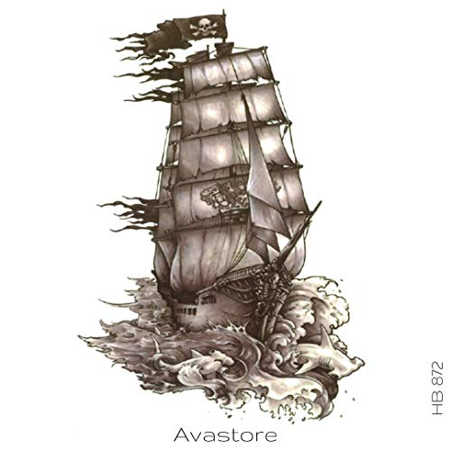 AVASTORE Temporäre Tattoo, Piratenschiff