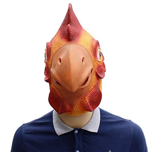 Von Einem Kostüm Bilder Huhn - Haoxiaren Tier Volle Gesicht Hahn Maske Halloween Prop Karneval Latex Gummi Huhn Kopf Masken Kostüme Phantasie Kleid Partei Liefert