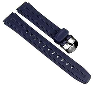Casio Ersatzband Uhrenarmband Resin Band Dunkelblau 18mm für W-211-2 W-211