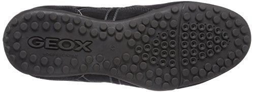 Geox Herrenschuhe U3207Y UOMO SNAKE Sportlicher Herren Sneaker, Schnürhalbschuh, Freizeitschuh, atmungsaktiv Grau (CHARCOAL/BLACKC9214)