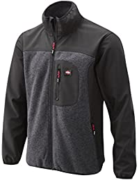 Lee Cooper Workwear Softshell Jacket with Knit Panels, XL, Holzhohle mergel, LCJKT429