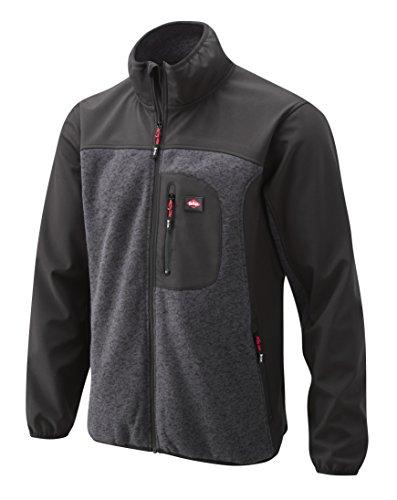 Lee Cooper - Felpa in Softshell con inserti in maglia, grigio, LCJKT429
