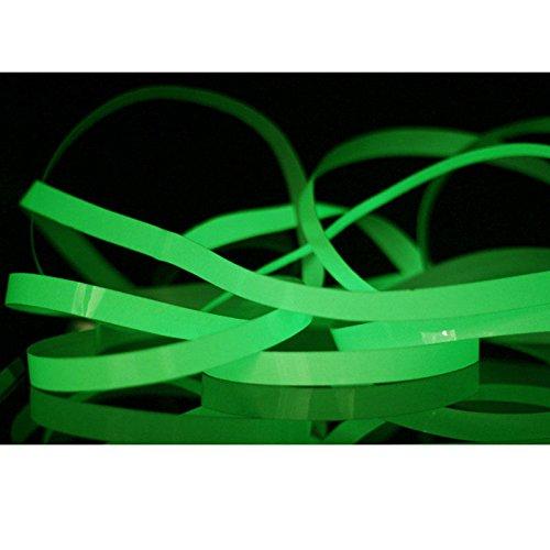 selbstklebend in der dunklen Streifen Bühne Dekorative Pet Fluoreszierende Licht-Lagerung Anti-Rutsch-Band Größe 1.5cm × 1M Aufkleber Dekor grün ()
