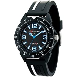 Sector Men's Quartz Watch with Black Dial Chronograph Display and Black Fabric Strap R3271703225