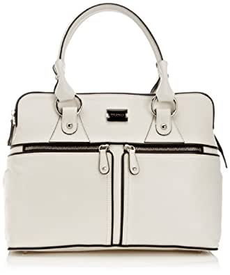Modalu Womens Pippa 1 Top-Handle Bag MH4572 White/Black