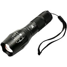 LED torcia elettrica HoochTech 1000 Lumen Zoalogar ricaricabile CREE XML2 T6 Manopola 5 modi luminosi Lampada bicicletta impermeabile a fuoco regolabile con coperchio della Campeggio all'aperto