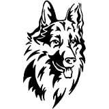 amazon in 35 off or more protective decorative strips car Esteem Car stickerbuy german shepherd dog vinyl car stickers and decals black l x h 9 70 x 16 80