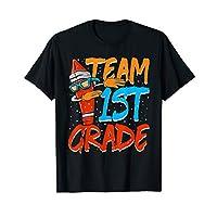 Team 1st Grade Dabbing Crayon Back to School Shirt Kids Gift T-Shirt