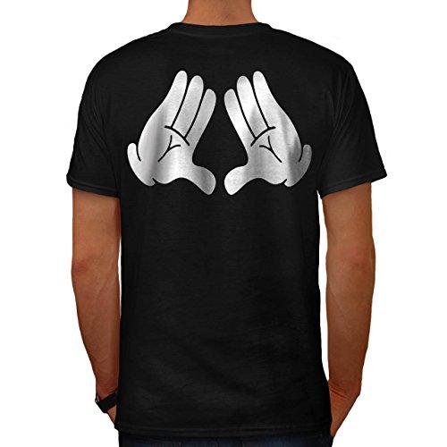 Mickey Hände Disney Herren M T-shirt Zurück   (Plus Prinzessin Kostüme Größe Disney)