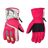 HAILI Kids Waterproof Winter Warm Gloves Windproof Snowproof Ski Outdoor Sports Cycling Gloves for 4 to 6 Years Children Boys and Girls Finger Gloves