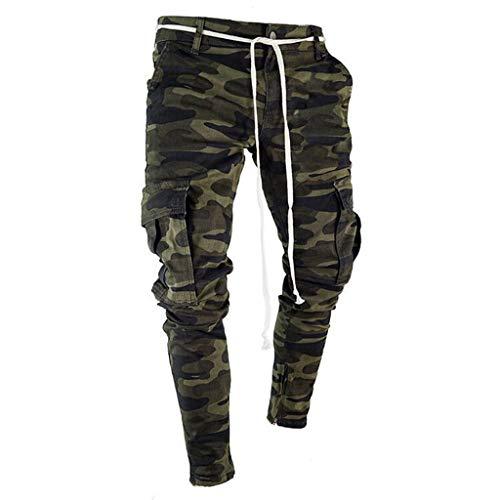 Plissee Denim Pant (VECDY Hosen Herren Skinny Stretch Denim Pants Plissee Ripped Freyed Slim Fit Jeans Hose Freizeit Stretchhose Sporthosen Hip Hop Hosen)