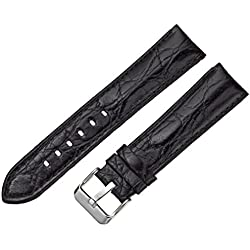 Tech Swiss LEA330-20SS 20mm Leather Calfskin Black Watch Strap
