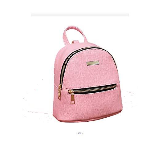 Best mini backpacks for girls in India 2020 JSPM® PU Leather Mini Backpack School Bag Student Backpack Women Travel bag Tuition Bag Backpack (Pink SP-0342) Image 5