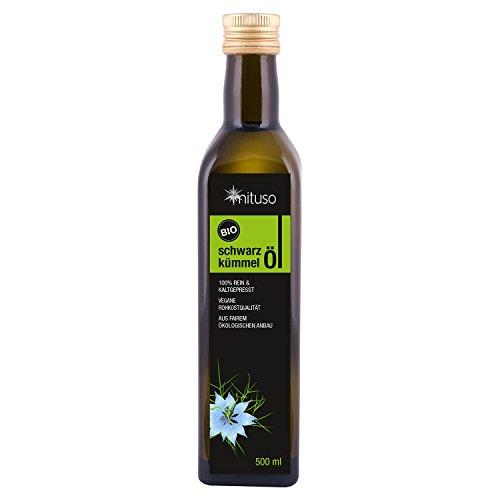 mituso Bio Schwarzkümmelöl, kaltgepresst, 1er Pack (1 x 500ml)