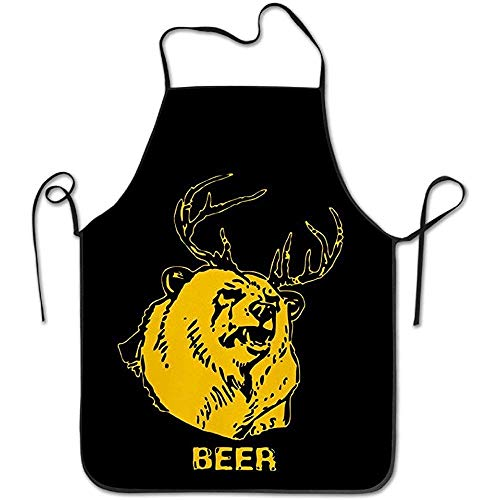 apple Aloha Polyester Apron for Baking Crafting Gardening Cooking Durable Easy Cleaning Creative Bib for Man and Woman Standar Size ()