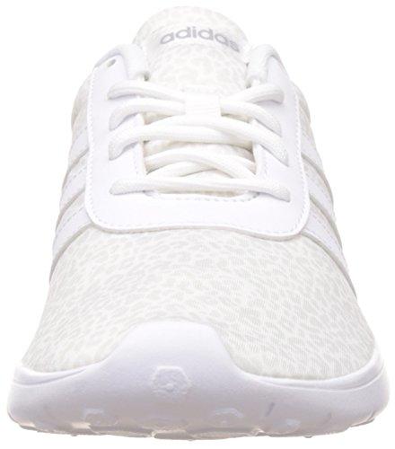 adidas Lite Racer W, Chaussures de Sport Femme Blanc Cassé - Blanco (Ftwbla / Ftwbla / Onicla)