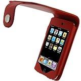 igadgitz PU Leder Schutzhülle mit Gürtel Clip für Apple iPod Touch 2G/3G–Rot