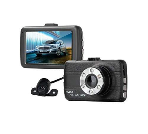LWTOP Dash cam Autokamera 1080P mit Nachtsicht Dash Camera Super HD Auto DVR Camcorder 3 Zoll LCD-Bildschirm WDR Bewegungserkennung Parkmonitor Loop-Aufnahme und G-Sensor (Fahren Records Kamera)