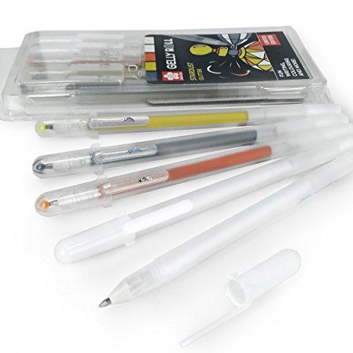 Gelly Roll STARDUST Glitzer-Gel Stifte–Brieftasche–von 5Farben sortiert–Edelmetalle Set–cpsta5a