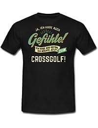 Gefuehle Ich Moechte Sport Crossgolf RAHMENLOS Hobby Lustig Geschenk Männer T-Shirt von Spreadshirt®