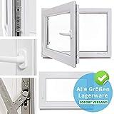Kellerfenster - Kunststoff - Fenster - weiß - BxH: 90 x 55 cm - DIN links - 3-fach-Verglasung - Lagerware
