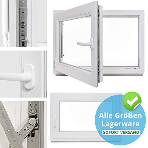 Kellerfenster - Kunststoff - Fenster - weiß - BxH: 65 x 40 cm - DIN links - 3-fach-Verglasung - Lagerware
