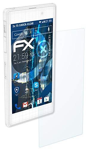 atFolix Schutzfolie kompatibel mit Smartisan T1 Panzerfolie, ultraklare und stoßdämpfende FX Folie (3X)
