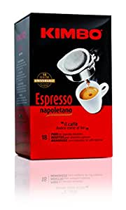 Kimbo Espresso Pods Neapolitan 18 Piece