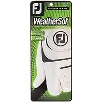FootJoy WeatherSof - Guante para hombre, Diestro, se pone en la mano izquierda, color Blanco, talla M