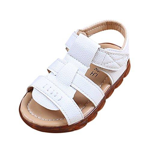 chuhe LED Licht Schuhe Outdoor Luminous Sandalen(21,Weiß) (Einhorn Emoji Kostüm)