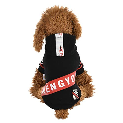 Mantel Pullover Hochwertige Hundebekleidung, Hawkimin Hundebekleidung Winter Kapuzenjacke Kleidung Wasserdichter Hundemantel Herbst Warm Winterjacke Hundekleidung für Kleine Hunde