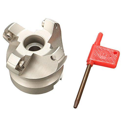 Generic Drillpro KM12 50-22-4F 4 Nuten Planfräser 45 Grad Drehmaschine Werkzeug für SEKT1204 einfügen