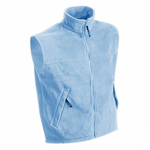 JAMES & NICHOLSON Wärmende Weste in schwerer Fleece-Qualität Light-Blue